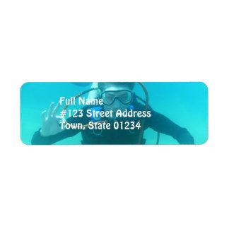 Scuba Diver Mailing Labels