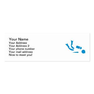 Scuba diver mini business card