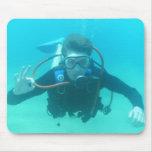 Scuba Diver Mouse Pad
