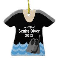 Scuba Diver Photo Christmas Ornament