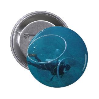 Scuba Diver Pinback Button