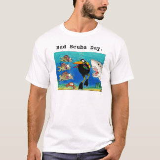 Scuba diver shark week funny tee shirt