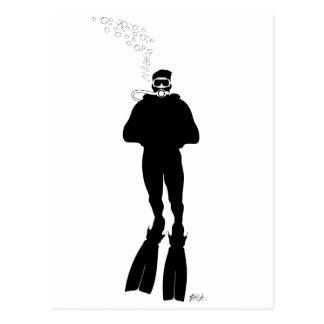 Scuba Diver Silhouette (Man) Postcard