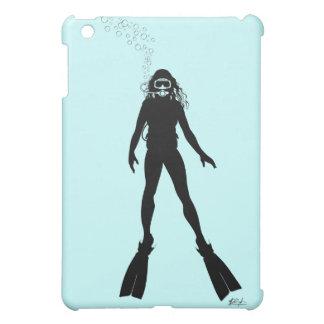 Scuba Diver Silhouette (Woman) iPad Mini Covers
