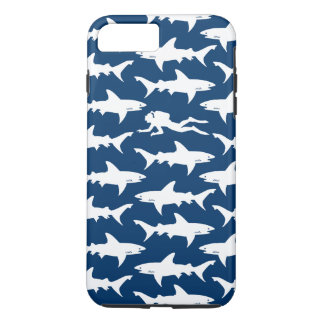 Scuba Diver Swimming with a School of Sharks iPhone 8 Plus/7 Plus Case