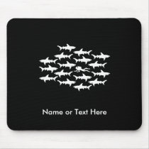 Scuba Diver Swimming with a School of Sharks Mouse Pad