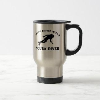 Scuba Diver vector designs Travel Mug