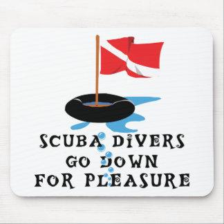Scuba Divers Go Down For Pleasure Mouse Pad