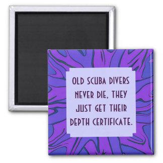 scuba divers joke 2 inch square magnet