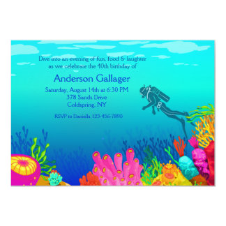 Scuba Diver's Paradise Invitation