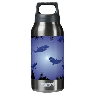 Scuba Divers & Sharks Pattern Insulated Water Bottle