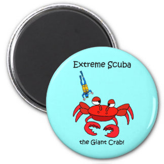 Scuba Diving 2 Inch Round Magnet