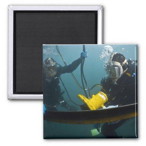 Scuba Diving 2 Inch Square Magnet