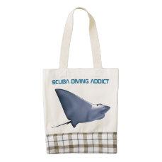 Scuba Diving Addict Zazzle HEART Tote Bag