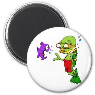 Scuba Diving Alien Magnet