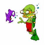 Scuba Diving Alien Photo Cut Outs