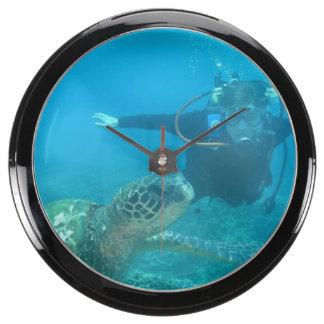 Scuba Diving Fish Tank Clocks