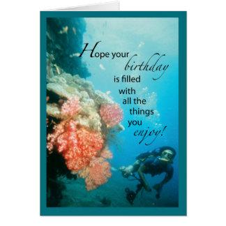 Scuba Diving Birthday Greeting Card