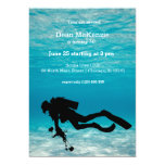 Scuba diving birthday party card