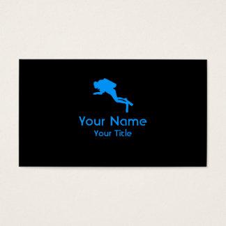 Scuba Diving black blue custom business cards