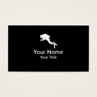 Scuba Diving black white custom business cards