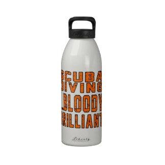 Scuba Diving Bloody Brilliant Drinking Bottle