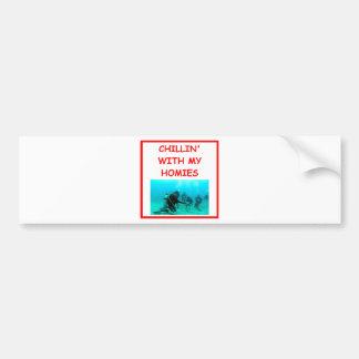 scuba diving car bumper sticker