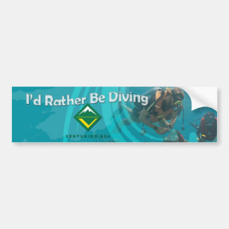 Scuba Diving Bumper Sticker Car Bumper Sticker