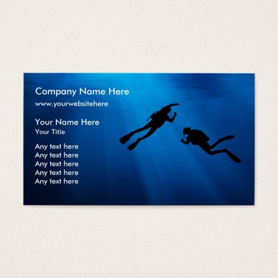 Scuba Diving Business Cards Template Zazzle