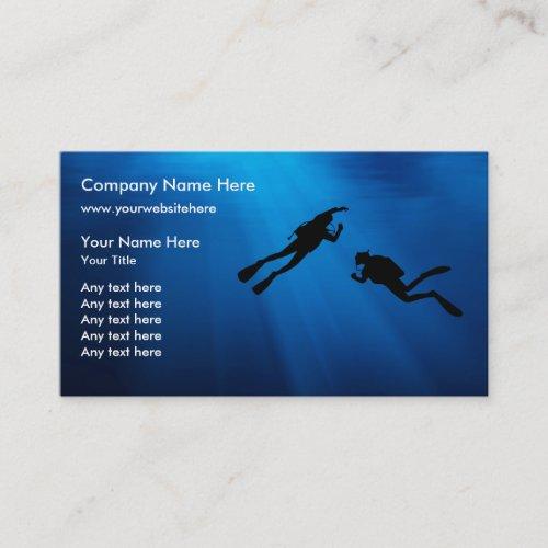 Scuba Diving Business Cards Template