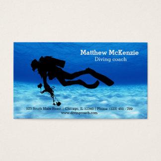 Scuba diving coach business card
