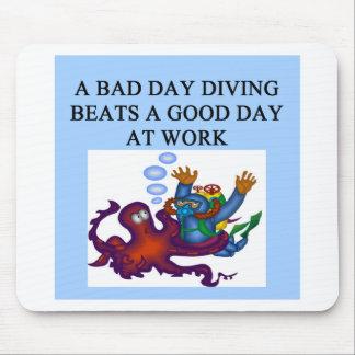 scuba diving design mouse pad