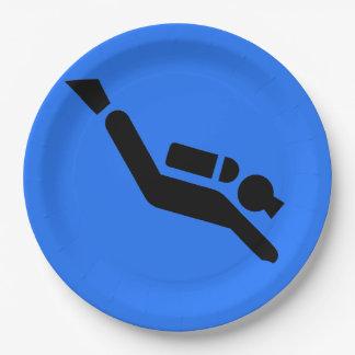 Scuba Diving Design Paper Party Plate