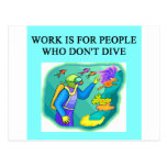 scuba diving design post cards