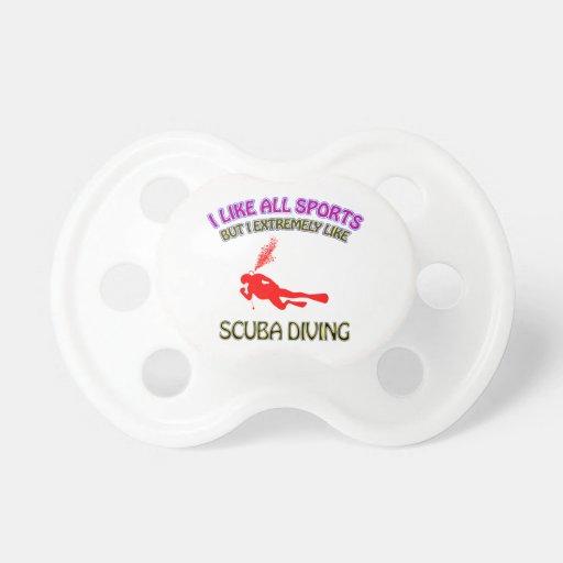 Scuba diving designs pacifier