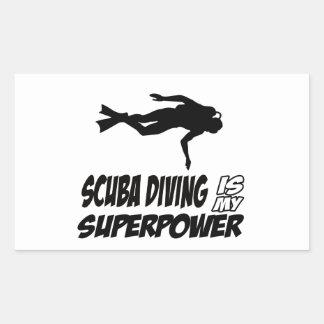 Scuba Diving designs Rectangular Sticker