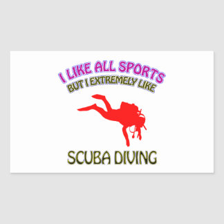 Scuba diving designs sticker