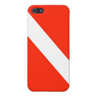 Scuba Diving Dive Flag iPhone SE/5/5s Cover