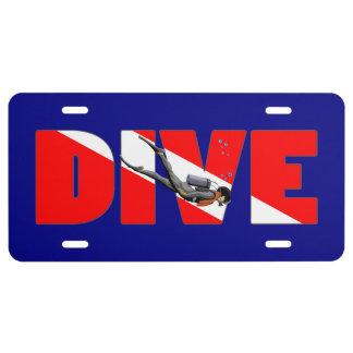 Scuba Diving DIVE License Plate