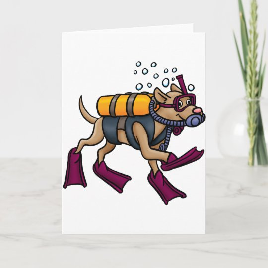 Scuba diving dog greeting cards zazzle scuba diving dog greeting cards m4hsunfo