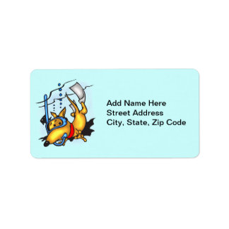 Scuba Diving Dog Address Label