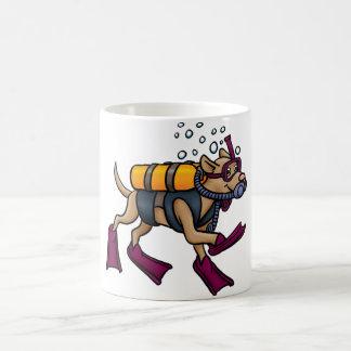Scuba Diving Dog Mug