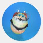 Scuba Diving Easter Egg Classic Round Sticker
