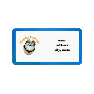 Scuba Diving Easter Egg Downunder Address Label