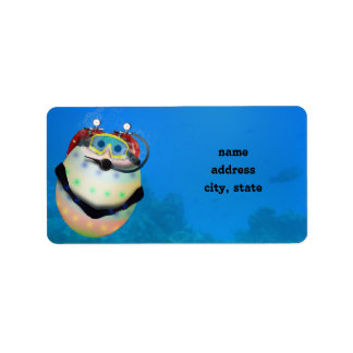 Scuba Diving Easter Egg Address Label