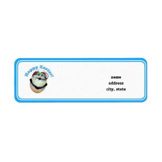 Scuba Diving Easter Egg Return Address Label