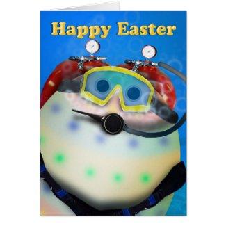 Scuba Diving Easter Eggs Card