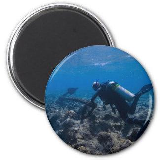 Scuba Diving Excavation Magnet