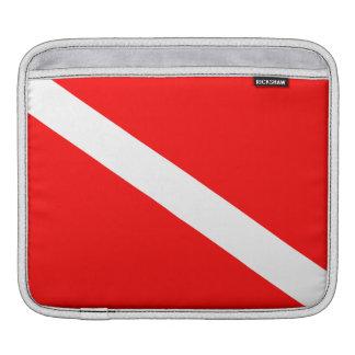 Scuba Diving Flag iPad Sleeve