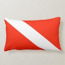 Scuba Diving Flag Lumbar Pillow